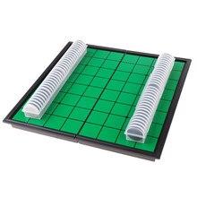 24.7x12.5x4cm manyetik taşınabilir Reversi Othello kurulu satranç taşları oyunu