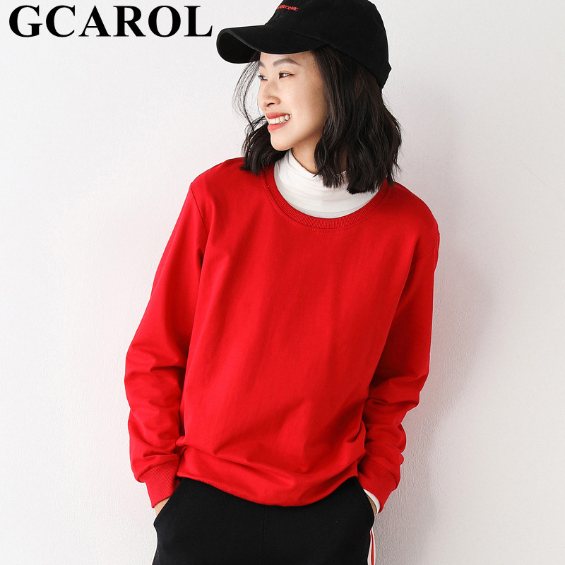 GCAROL Women Boyfriend Oversize Candy Sweatshirt Drop Shoulder Loose Tracksuits Long Hooded Streetwear Pullover Plus Size 5XL 1