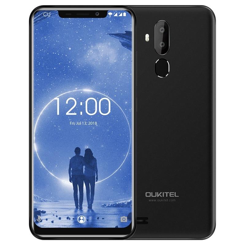 OUKITEL C12 3G Mobile Phone 6.18 Inch Android 8.1 MT6580 Quad Core 1.3GHz 2GB+16GB 8MP+2.0MP  Camera Fingerprint Smartphone