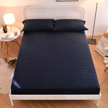New Anti Dust Mite Bed Cover Quilted Embossed Waterproof Mattress Protector Fitted Sheet Style Cover for Mattress Thick Soft Pad
