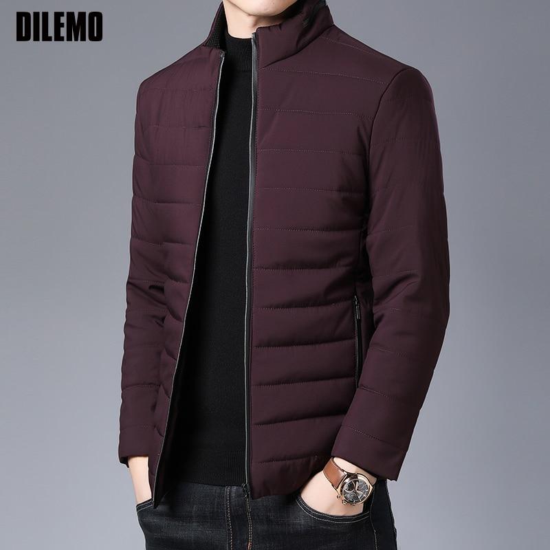 2019 épais hiver marque de mode vestes hommes Parka Streetwear coréen matelassé veste bouffante bulle manteaux hommes vêtements
