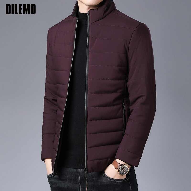 2019 Thick Winter Fashion Brand Jackets Men Parka Streetwear Korean Quilted Jacket Puffer Bubble Coats  Mens Clothing