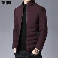 2020 épais hiver marque de mode vestes hommes Parka Streetwear coréen matelassé veste bouffante bulle manteaux hommes vêtements