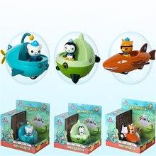 3 pces octonauts barco navio modelo gup-a gup-b c d f com octonauts figuras crianças brinquedos presente