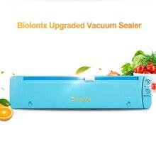 Biolomix вакуумный упаковщик со встроенным резаком 220 В автоматическая упаковочная машина для пищевых продуктов 10 бесплатных пакетов лучший вакуумный упаковщик для кухни синий