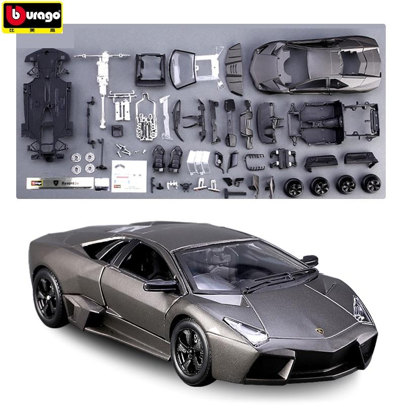 Bburago 1:24 Lamborghini 8 styles Assembled car simulation alloy car model crafts decoration collection toy tools(China)