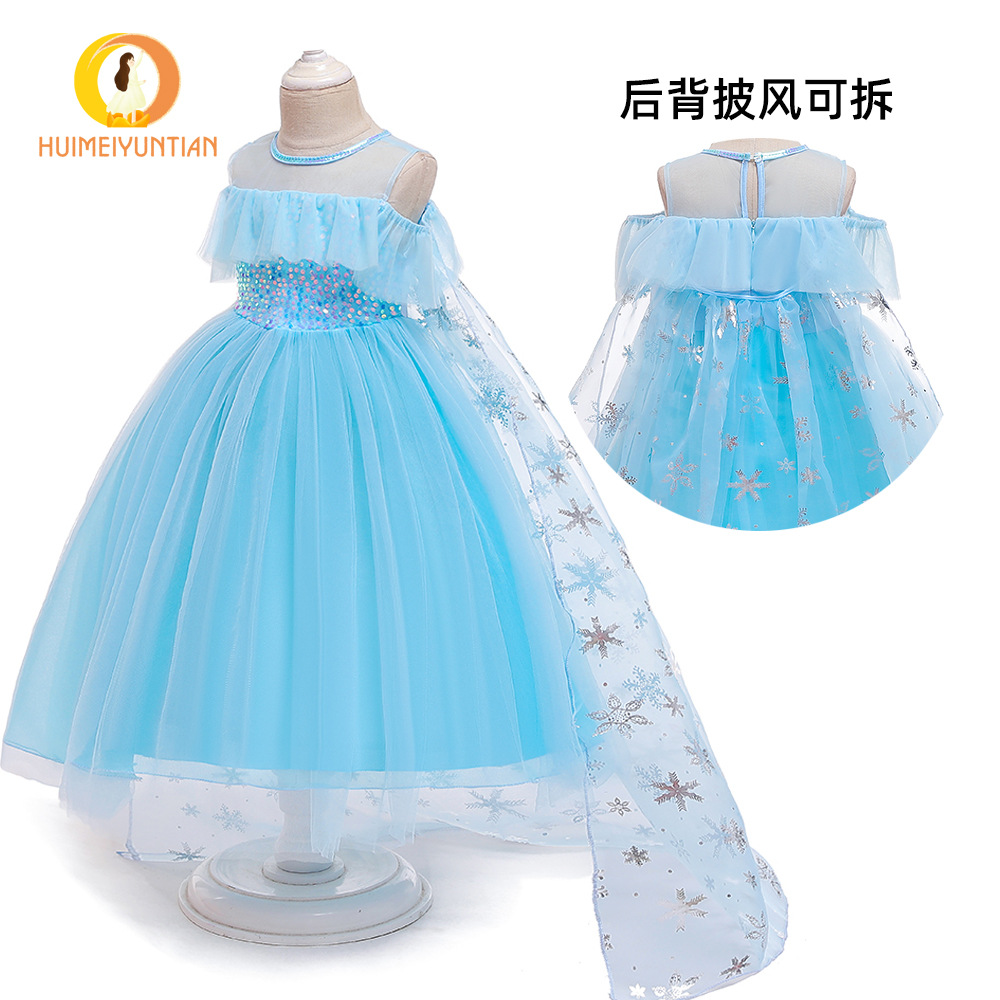 Holiday Performance Clothing Europe And America Children Shirt 2020 Hot Selling Frozen Princess Dress Cosplay Girls Performance