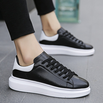 2020 Men Casual Shoes  Sneakers PU Breathable  Height Increasing  Lace-Up  zapatos de hombre mens loafers mens trainers B-12