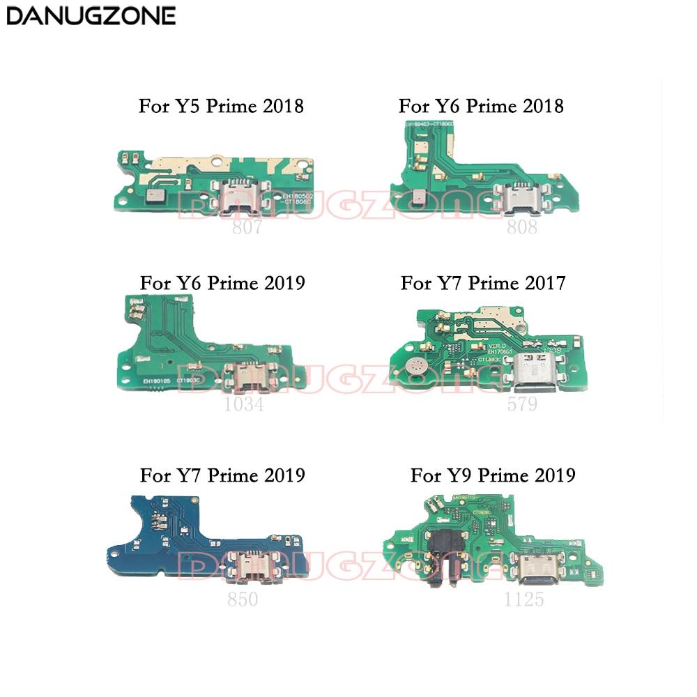 USB Charging Dock Port Socket Jack Plug Connector Charge Board Flex Cable For Huawei Y6 2018 Y6 Y9 Prime 2019 Y5 2017 Y7 Pro