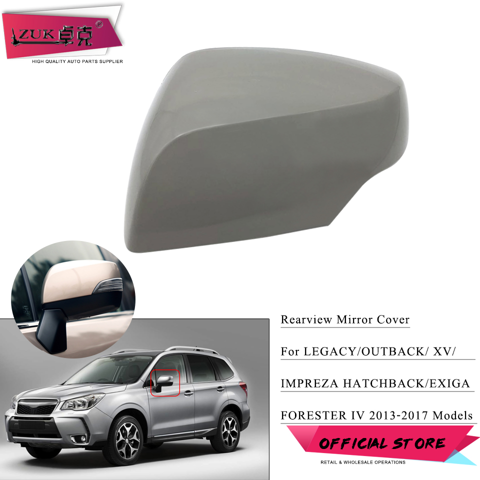 ZUK Outer <font><b>Door</b></font> Rearview Mirror Upper Cover Cap Shell Housing For Lagecy <font><b>Outback</b></font> For Forester XV 2012-2017 For <font><b>SUBARU</b></font> image
