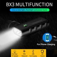 مصباح LED للدراجة USB شحن سريع 360 دوران مقاوم للماء الفانوس الدراجات غاكيرون فارول دراجة لامكا روويركوا Fietsverlichting