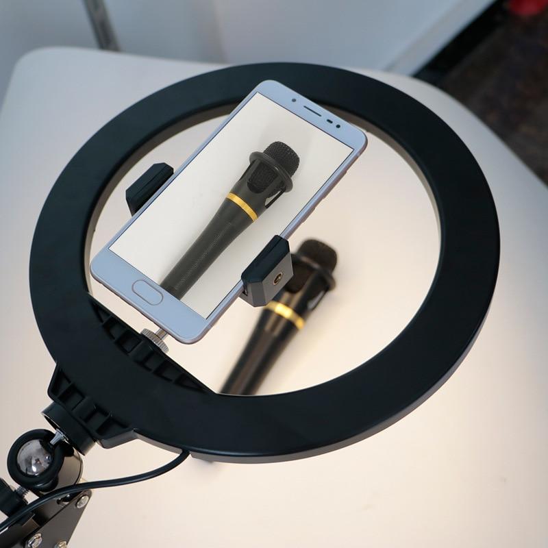 cheapest phone holder 10 inch Ring Light Fill Lamp Overhead Bracket Soft Light jewelry broadcast live light shooting SLR photo lamp