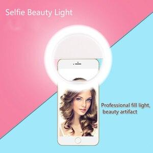 Image 5 - 휴대 전화 보충 빛 LED 반지 보충 빛 유물 아름다움 휴대 전화 셀프 타이머 조명 라이브 Photoflash