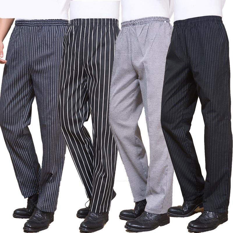 VIAOLI Hotel Chef Uniforms Kitchen Work Clothes Restaurant Elastic Trousers Zebra Pant Kitchen Cooker Pants Work Clothes Men