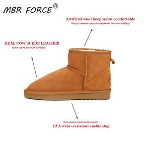 Image 2 - MBR FORCEคุณภาพสูงออสเตรเลียยี่ห้อผู้หญิงฤดูหนาวหิมะรองเท้าวัวแยกหนังข้อเท้ารองเท้าผู้หญิงBotas Mujerขนาดใหญ่US 3 13