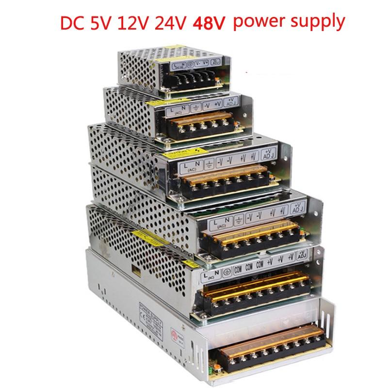 Vusum 조명 변압기 AC110V-220V DC 5V 12V 24V 48V 전원 공급 장치 어댑터 2A 5A 10A 15A 20A 30A LED 스트립 스위치 드라이버