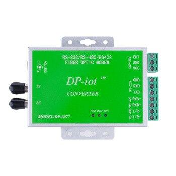 Módem de fibra única RS232/RS485/RS422 a transceptor de fibra óptica DP-6077