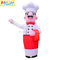 outdoor advertising inflatable air dancer sky dancing tube cook man cartoon characters free shipping 3m/9.8ft for sale