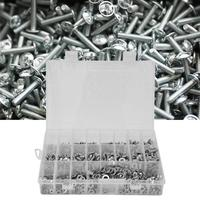 815PCS M3 M5 M6 Stainless Steel Countersunk Hex Socket Screw Nut Washer Kit tornillos cabeza arandela tapa tornillos