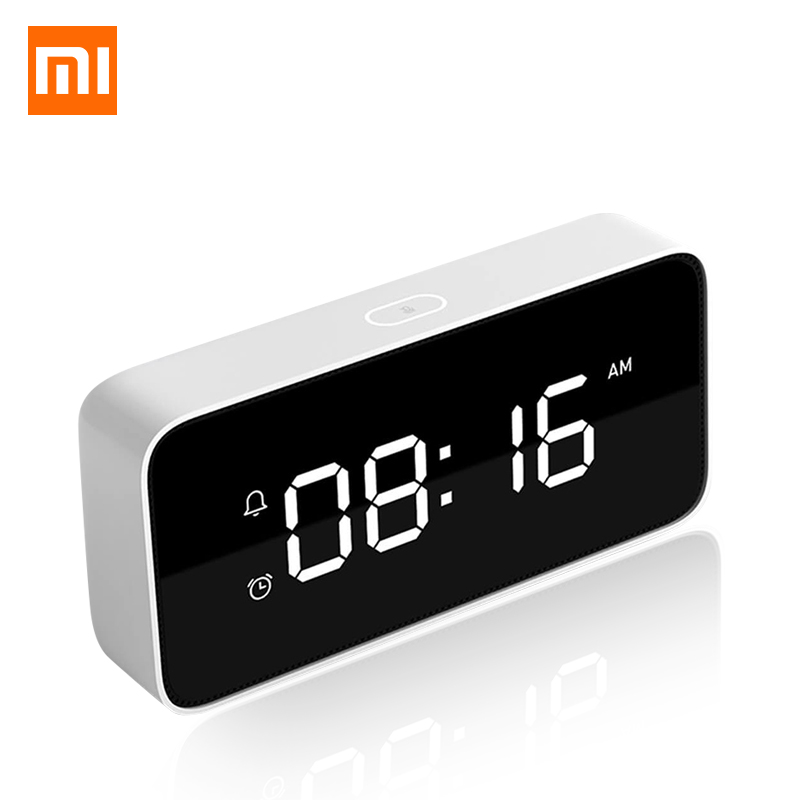 Original Xiaomi Smart Alarm Clock Voice Broadcast Clock ABS Table Dersktop Clocks AutomaticTime Calibration Mi Home App image