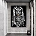 Черная африканская Картина на холсте «женщина», постеры и принты Cuadros, Скандинавское настенное художественное изображение для украшения го...