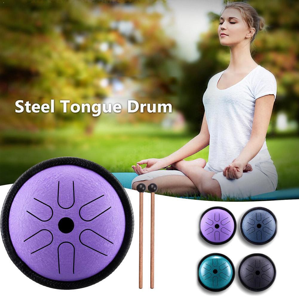 Мини барабан 5,5 дюйма, 6 тоновый стальной барабан с языком, ударный производитель Будды с эфирным звуком может очистить барабан, инму C5F4|Барабан| | АлиЭкспресс - Хобби - музыка