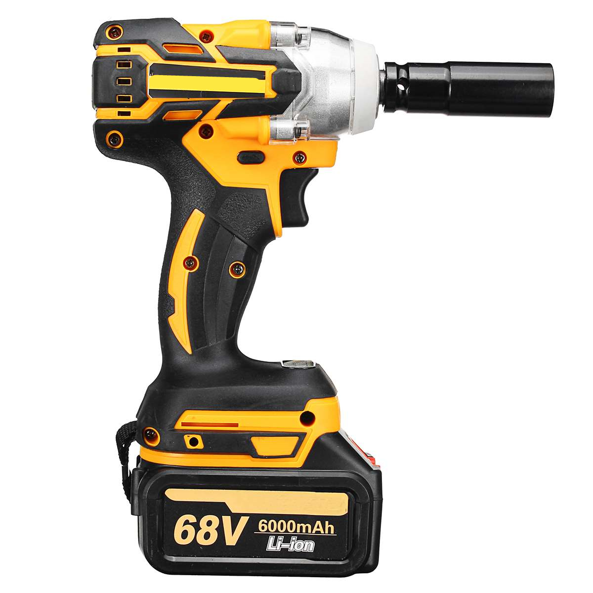 21V Brushless Electric  Impact Wrench Hand Drill Installation Power Tools With 2X 6000mAh Li Battery Batteries