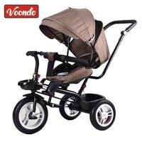 Baby trolley baby bike children tricycle rotating seat with hand push folding bike baby bike child 1 3 5 bike
