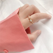 Momiji Fashion Gold Silver Color Beads Rings for Women Handmade Natural Stone Wedding Party Rings Stretchy Gift Wholesale Price
