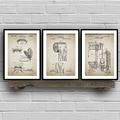 Товары для ванной комнаты, патент, ретро постер, утапливаемая туалетная бумага, крышка для унитаза, патент, винтажная настенная Картина на х...