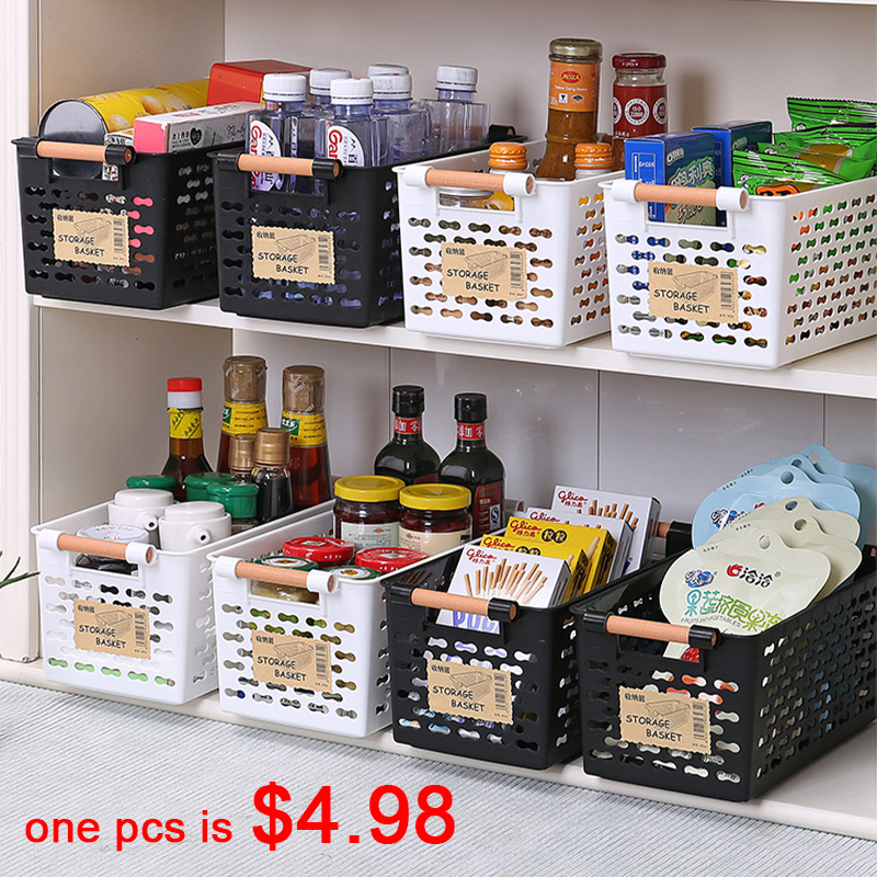 Kitchen Storage Basket Plastic Multi-functional Vegetables Fruit Racks With Cover Storage Basket For Organizers Storage Box New