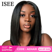 Straight Short Human Hair Wigs 360 Lace Frontal Wig