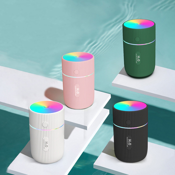 220ml New Color Cup USB Air Humidifier Ultrasonic Car Humidifiers Mist Maker with 7 Colors Night Lamps Mini Office Air Purifier image