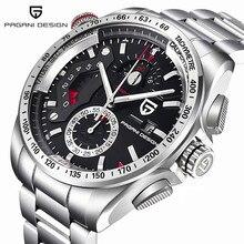 Lüks marka PAGANI tasarım moda Chronograph spor saatler erkekler reloj hombre tam paslanmaz çelik quartz saat saat Relogio