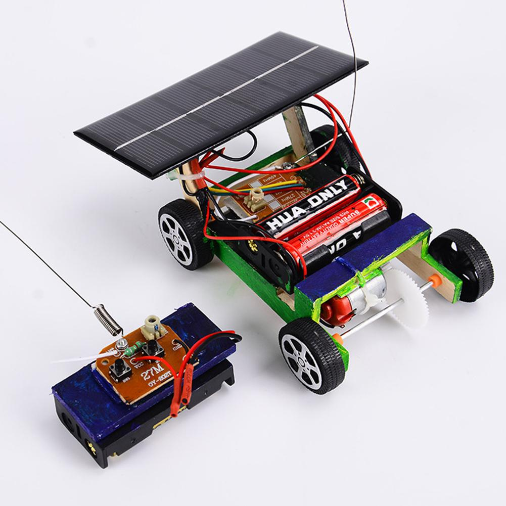 HobbyLane Wooden DIY Solar Powered RC Car Puzzle Assembly Science Vehicle Toys Set For Children
