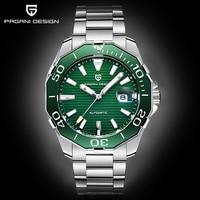 2020 New Brand PAGANI DESIGN 1617 Men's Military Sport Mechanical Watches Waterproof Stainless Steel Top Brand Luxury Men Watch