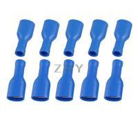 Işıklar ve Aydınlatma'ten Konnektörler'de Mavi Plastik Kabuk Kadın Spade Sıkma Konnektörleri 10 Adet