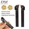 WWLNR1616K08 + WWLNL1616K08 Drehmaschine werkzeug halter + 10 stücke WNMG080404 HM NC3020 cnc Hartmetall Einfügen-in Drehwerkzeug aus Werkzeug bei