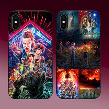 Stranger Things TEMPORADA 3 coque para iphone 7 marca de lujo de diseñador suave tpu cubierta del teléfono para iphone 7 6 6S 8 plus X XR XS MAX funda(China)
