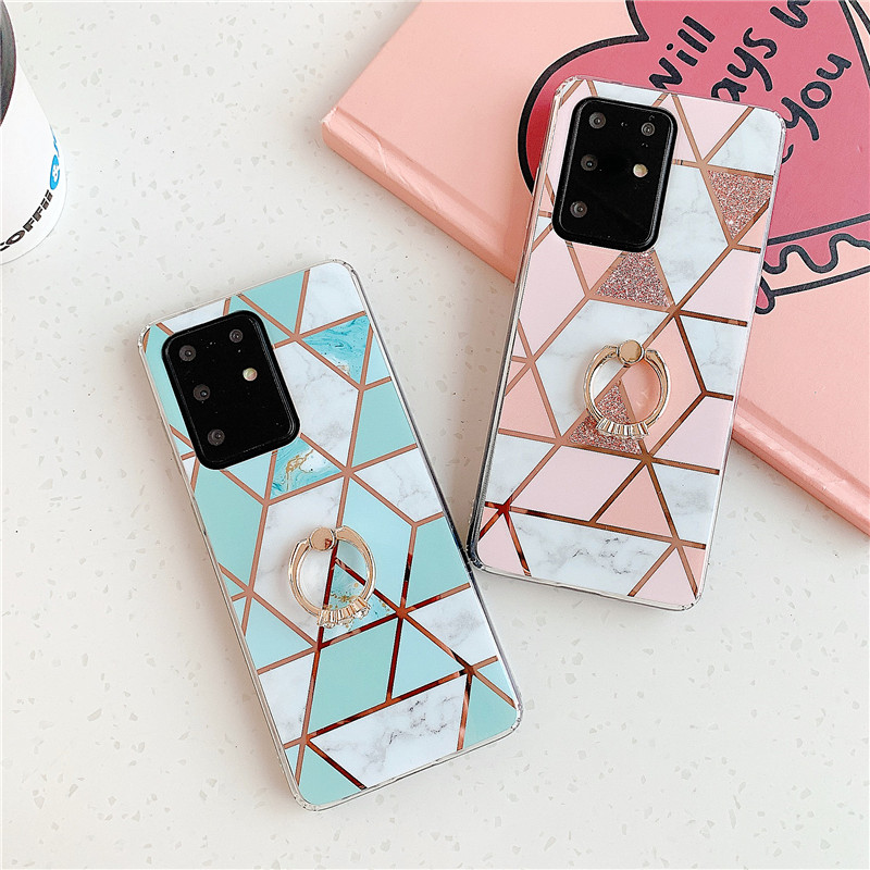 KL-Boutiques Case For Samsung Galaxy S20 Ultra Plus A 50 <font><b>30</b></font> 20 <font><b>10</b></font> S 51 71 31 41 70 S10 e S9 S8 Plus S7 Note <font><b>10</b></font> 9 8 Marble Case image