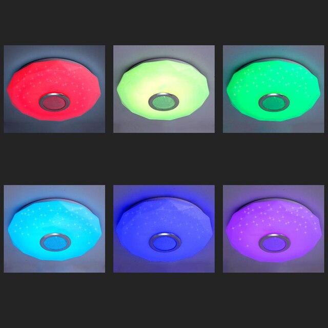 светодиодный потолочный светильник для музыки с дистанционным фотография