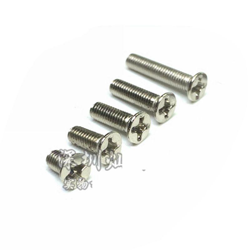 100pcs M4x16mm Black 10.9 Carbon Steel Flat Countersunk Head Hex Socket Screw