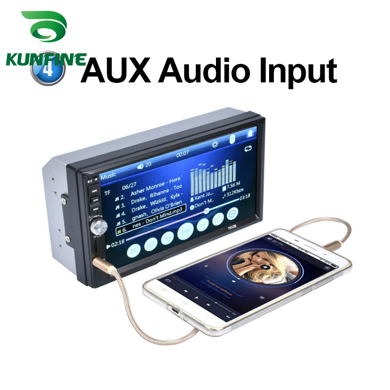 7 Touch Screen Car Radio Double Din Car Stereo MP5 MP3 Player  with Bluetooth FMUSBAUX 7010B (7)