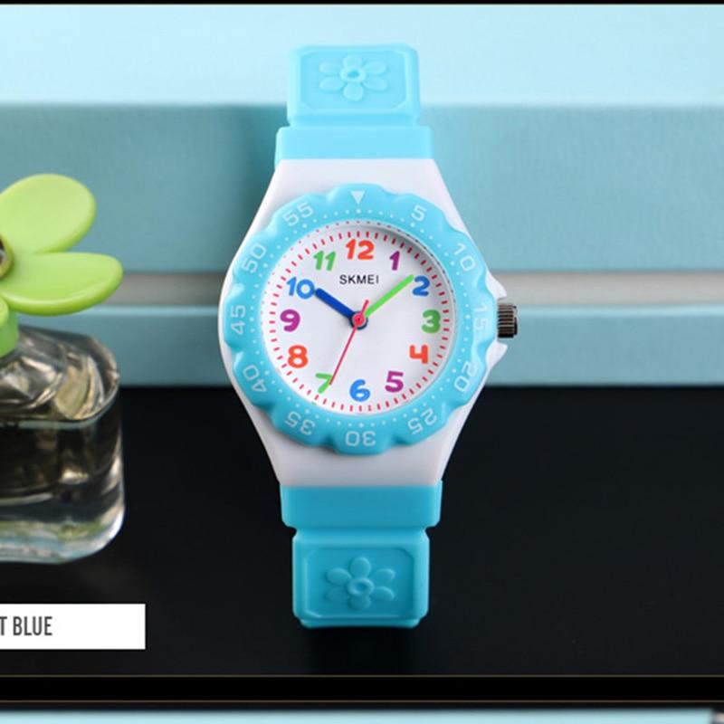 Quartz Kids Watch Waterproof Boys Watches Multi-color Red Green Blue Black Wristwatch For Children Girls Clock SKMEI