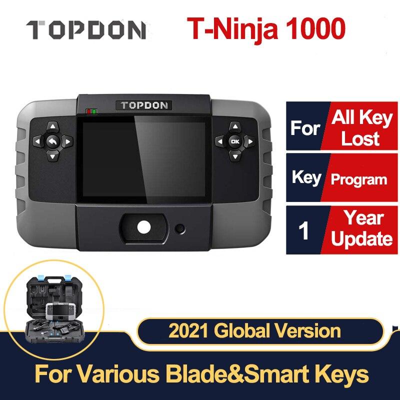 Программатор ключей TOPDON T-Ninja 1000, все в одном, инструменты для программирования ключей, все ключи потеряны, дистанционное обучение