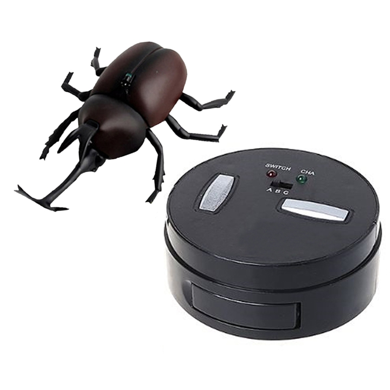Infrared Remote Control Simulation Beetle Mini Rc Animal Kids Child Toy Boy Gift