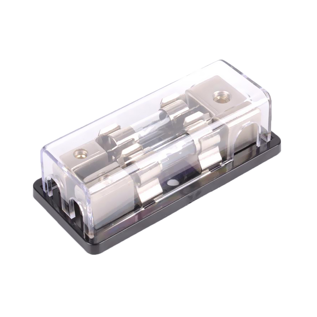Car 2-Way Amplifier Power AGU <font><b>Fuse</b></font> Distribution Block Holder with <font><b>60A</b></font> <font><b>Fuse</b></font> image