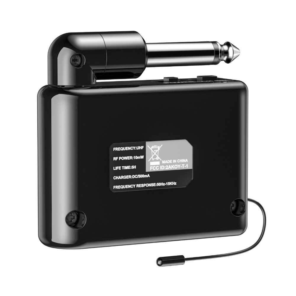 Donner DWS-2 Wireless Transmitter and Receiver Micro USB Charging Guitar Black