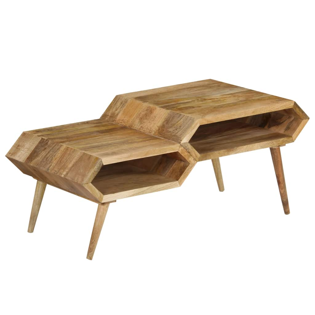 VidaXL Coffee Table Solid Mango Wood 104x50x45 Cm