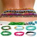 Женская многослойная цепочка с бусинами, разноцветная эластичная цепочка на талию для девушек и женщин, летняя пляжная бижутерия, аксессуа...